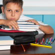 Sad boy at desk — Stockfoto #8144360