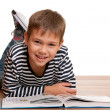 Smiling little reader — Stock Photo #8144381