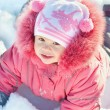 Girl enjoying snowtime — Stock Photo