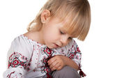 Closeup portrait of a ukrainian girl — Stock Photo