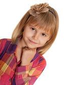 Retrato de uma jovem encantadora — Foto Stock