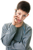 Making arguments while phone talk — Stock Photo