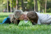 Sweet parenting — Stock Photo