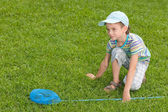Hunting butterflies — Stock Photo
