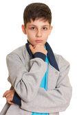 Rapaz bonito pensativo — Foto Stock