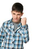 Aggressive boy — Stock Photo