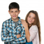 Smiling teenagers — Stock Photo