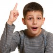 Kid appeals to the heavens — Stock Photo