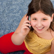 Girl talking on the mobile phone — Stock Photo