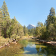 Landscape with mountains and river in Yosemite - Foto de Stock