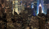 View of the night New York — Stock Photo