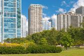 Stedelijke uitzicht op de stad van chicago — Stockfoto