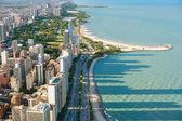 汉考克中心从芝加哥的视图 — 图库照片