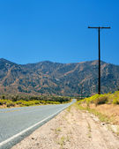 Road in the Mojave desert — Stock Photo