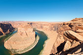 Horseshoe of the Colorado river — Stock Photo