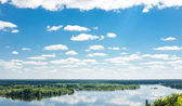 Dnipro river near Kaniv — Stock Photo
