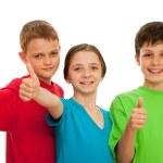gruppo di bambini sorridenti — Foto Stock