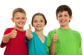 Happy smiling children — Stock Photo