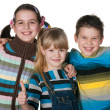 Three happy kids — Stock Photo