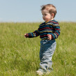 Spring walk of a toddler — Stock Photo