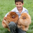 Boy with his pets — Stock Photo #8639716