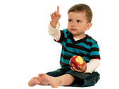 Children should eat apples! — Stock Photo
