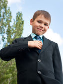 Tidy boy in suit — Stock Photo