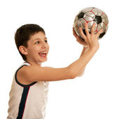 Boy throwing a ball — Stock Photo
