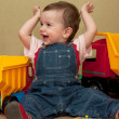 Toddler's first victory — Stock Photo