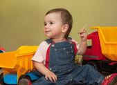 Oynak bir bebek — Stok fotoğraf