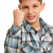 Aggressive kid — Stock Photo #8658950