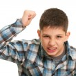 Disgusting boy in street fighting — Stock Photo #8658952