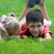 Little girl and boy at the park - 