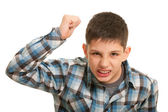 Disgusting boy in street fighting — Stock Photo