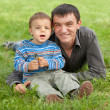Little boy and his happy father — Stock Photo