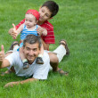 Family is resting in the park — Stock Photo