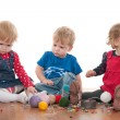 Stock Photo: Threads of children friendship