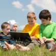 Children in the meadow — Stock Photo #8718121