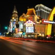 View of the night Las Vegas near Casino Royale - Foto de Stock  