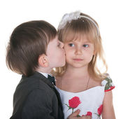 Sincere kiss — Stock Photo