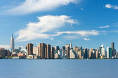 New York from Hudson river — Stock Photo