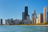 View of Chicago and Michigan lake — Stock Photo
