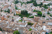 View over the rooftops of the city of Granada — Stock Photo