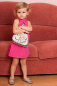 Fashion little girl at home — Stock Photo