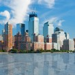 View on New York from Hudson river — Stock Photo