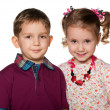 Portrait of two children — Stock Photo #9502600