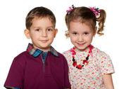 Portrait of two children — Stock Photo