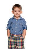 Confident fashion little boy — Stock Photo
