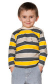 Smiling fashion little boy — Stock Photo