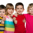 Group of four children — Stock Photo